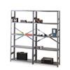 Tennsco Commercial Steel Shelving, Six-Shelf, 36w x 18d x 75h, Medium Gray TNNESP61836MGY