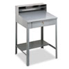 Open Steel Shop Desk, 34.5w x 29d x 53.75h, Medium Gray