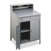 Steel Cabinet Shop Desk, 34.5w x 29d x 53h, Medium Gray