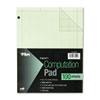 TOPS® Engineering Computation Pad, Grid to Edge, 8 1/2 x 11, Green, 100 Sheets TOP35510