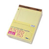 TOPS® The Legal Pad Ruled Perf Pad, Legal/Wide, 11 3/4 x 8 1/2, Canary, 50 Sheets, DZ TOP75351