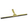 "Golden Clip Brass Squeegee Complete, 18"" Wide"