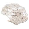 Premium Cut-End Wet Mop Heads, Cotton, 20oz, White, 12/carton