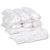 Premium Cut-End Wet Mop Heads, Rayon, 20oz, White, 12/carton