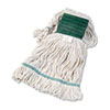 Boardwalk® Super Loop Wet Mop Head, Cotton/Synthetic, Medium Size, White BWK502WHEA