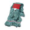 Boardwalk® Super Loop Wet Mop Head, Cotton/Synthetic, Large Size, Green BWK503GNEA