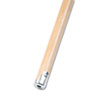 "Lie-Flat Screw-In Mop Handle, Lacquered Wood, 1 1/8"" Dia. X 60""l, Natural"