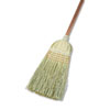 "Warehouse Broom, Yucca Corn Fiber Bristles, 56"" Overalll Length, Natural, 12/ct"