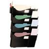 Universal® Grande Central Filing System, Four Pocket, Wall Mount, Plastic, Black UNV08137