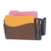 Unbreakable 4-in-1 Wall File, Two Pocket, Plastic, Smoke
