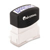 Universal® Message Stamp, APPROVED, Pre-Inked One-Color, Blue UNV10043