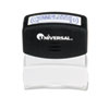 Universal® Message Stamp, COMPLETED, Pre-Inked One-Color, Blue Ink UNV10044