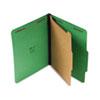 Universal® Pressboard Folder, Letter, Four-Section, Emerald Green, 10/Box UNV10202