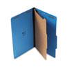 Universal® Pressboard Classification Folders, Legal, Four-Section, Cobalt Blue, 10/Box UNV10211