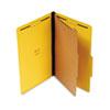 Universal® Pressboard Classification Folders, Legal, Four-Section, Yellow, 10/Box UNV10214