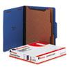 Universal® Pressboard Classification Folders, Letter, Six-Section, Cobalt Blue, 10/Box UNV10301