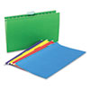 Universal® Hanging File Folders, 1/5 Tab, 11 Point, Legal, Assorted Colors, 25/Box UNV14221