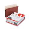 Universal® 5 1/4 Inch Expansion File Pockets, Straight Tab, Letter, Redrope/Manila, 10/Box UNV15262