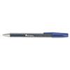 Universal® Comfort Grip Ballpoint Stick Pen, Blue Ink, Medium, Dozen UNV15611