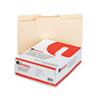 Universal® File Folders, 1/2 Cut, Two-Ply Top Tab, Letter, Manila, 100/Box UNV16112