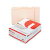 Universal® File Folders, 1/3 Cut Assorted, Two-Ply Top Tab, Letter, Manila, 100/Box UNV16113