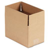 "Fixed-Depth Shipping Boxes, Regular Slotted Container (RSC), 10"" x 6"" x 6"", Brown Kraft, 25/Bundle"