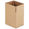 General Supply Brown Corrugated - Fixed-Depth Shipping Boxes, 11 1/4l x 8 3/4w x 12h, 25/Bundle - UFS11812