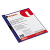 Universal® Plastic Report Cover w/Clip, Letter, Holds 30 Pages, Clear/Dark Blue UNV20504