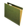Universal® Reinforced Recycled Hanging Folder, 1/5 Cut, Letter, Standard Green, 25/Box UNV24115