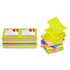 Universal® Fan-Folded Pop-Up Notes, 3 x 3, 4 Assorted Neon Colors, 100-Sheet, 12/Pack UNV35617