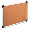 Universal® Cork Board with Aluminum Frame, 36 x 24, Natural, Silver Frame UNV43713