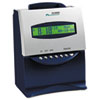 Acroprint® ES1000 Totalizing Digital Automatic Payroll Recorder/Time Clock, Blue and Silver ACP010215000