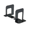 Universal® Economy Bookends, Standard, 4 3/4 x 5 1/4 x 5, Heavy Gauge Steel, Black UNV54051