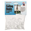 <strong>Adams Manufacturing</strong><br />Clear Plastic Ceiling Hooks, 5/16 x 3/4 x 1 3/8, 6/Pack