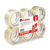 """Universal® General-Purpose Box Sealing Tape, 48mm x 54.8m, 3"""" Core, Clear, 6/Pack UNV63000"""