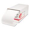 Universal® Dot Matrix Printer Labels, 1 Across, 1-7/16 x 4, White, 5000/Box UNV70112