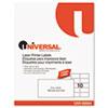 Universal® Laser Printer Permanent Labels, 2 x 4, White, 2500/Box UNV80004