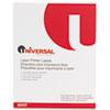 Universal® Laser Printer Permanent Labels, 2 x 4, White, 1000/Box UNV80107