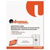 Universal® Inkjet/Laser Printer Labels, 2 x 4, White, 250/Pack UNV80205