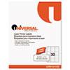 Universal® Laser Printer Permanent Labels, 1 x 2-5/8, Clear, 1500/Box UNV81102