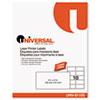 Universal® Laser Printer Permanent Labels, 2 x 4, Clear, 500/Box UNV81105