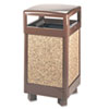 <strong>Rubbermaid® Commercial</strong><br />Aspen Series Hinge Top Receptacle, Square, Steel, 29 gal, Brown