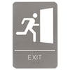Headline® Sign ADA Sign, 6 x 9, Exit, Gray USS5402
