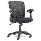 OIF Mid-Back Swivel/Tilt Mesh Swirl Office Chair