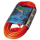 COC02307 - Vinyl Outdoor Extension Cord, 25ft, 13 Amp, Orange