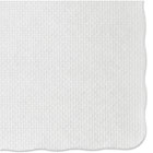 HFMPM32052 - Knurl Embossed Scalloped Edge Placemats, 9 1/2 x 13 1/2, White, 1000/Carton