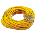 COC03489 - Polar/Solar Outdoor Extension Cord, 100ft, Three-Outlets, Yellow