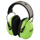 HOW1013941 - L3HV Hi-Visibility Earmuffs, Reflective Headband, 30NRR, Green/Black