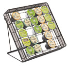 SAF3276BL - Stand-up Hospitality Organizer, 25 Compartments, 8 1/4w x 11 1/2d x 10 1/2h, Bk