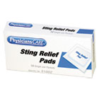 FAO19002 - First Aid Sting Relief Pads, 10/Box